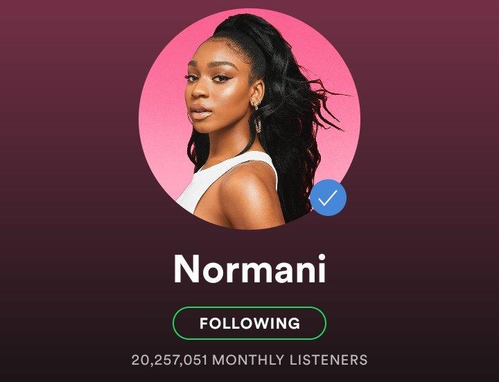 Hitando! Normani bate sua maior marca de ouvintes mensais no Spotify; confira número