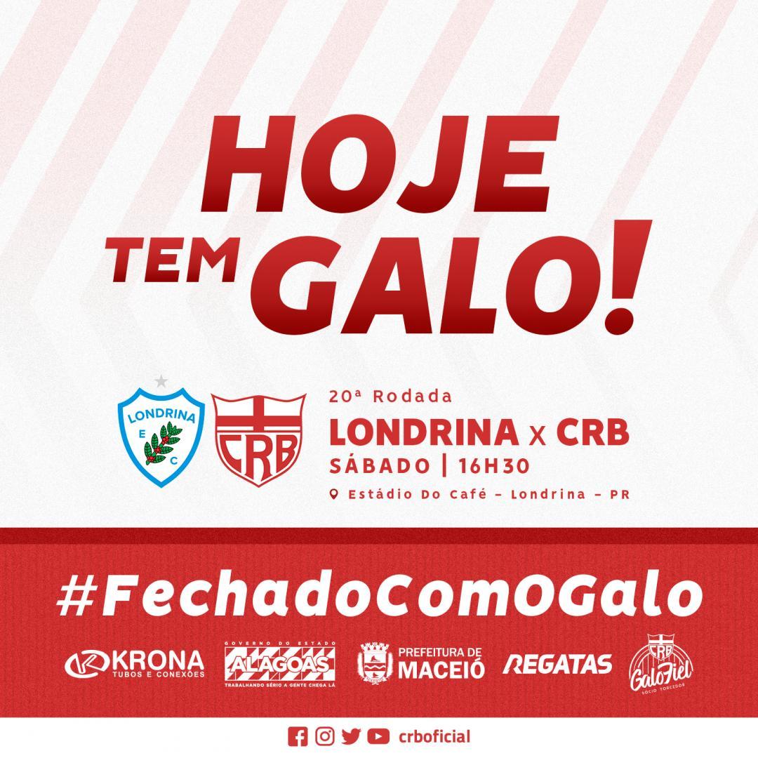 Crb V Twitter Hoje Tem Jogo Do Maiordealagoas O Galo Encara O Londrina Pr As 16 30 Pela 20 ª Rodada Da Serie B Galo Crb Futebol Brasileirao Serieb Brasileirao Serie B 20 ª Rodada