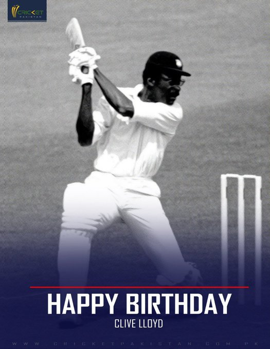 First West Indian to win 100 Test caps Two World Cup titles Happy birthday Clive Lloyd