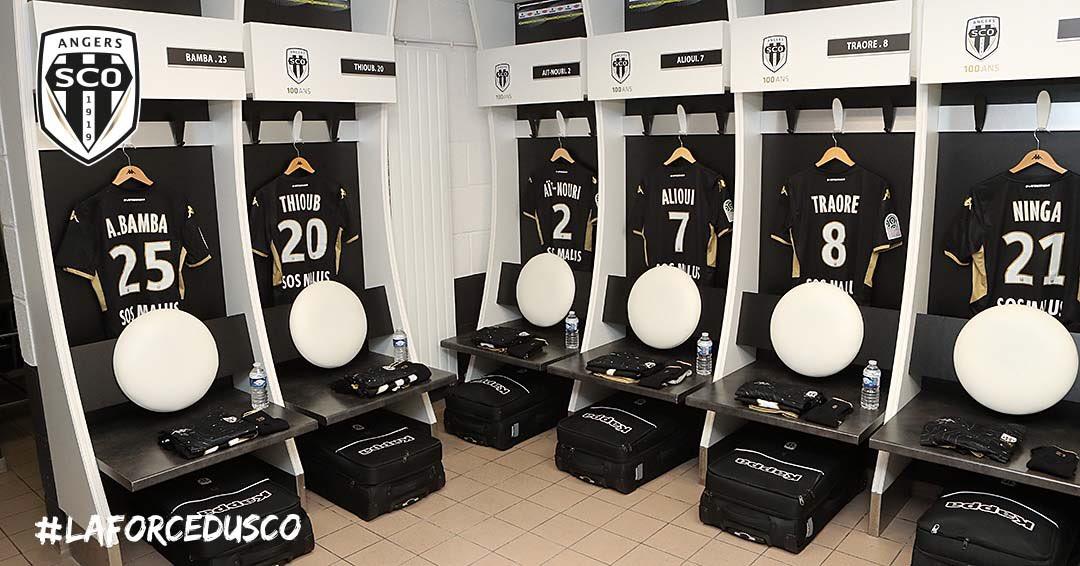 Angers SCO Ligue 1 vestiaire photo digital Ouest MEDIAS