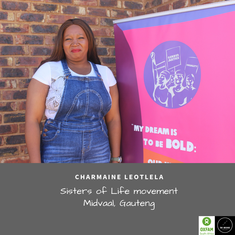 """Charmaine Leotlela of 'Sisters for Life' - an anti-gbv movement in Meyerton - stands up against gender-based violence in her community and for her stepdaughter who was gang raped by 6 men in December. """"Enough is Enough"""" she says! #CommunityStrategies #CommunityPower #EndGBVpic.twitter.com/YNZINTxPsH"""