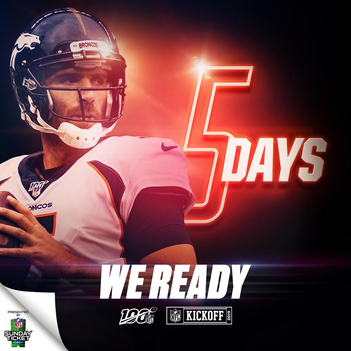 Only five days to go. #NFL100  (by @DIRECTV)