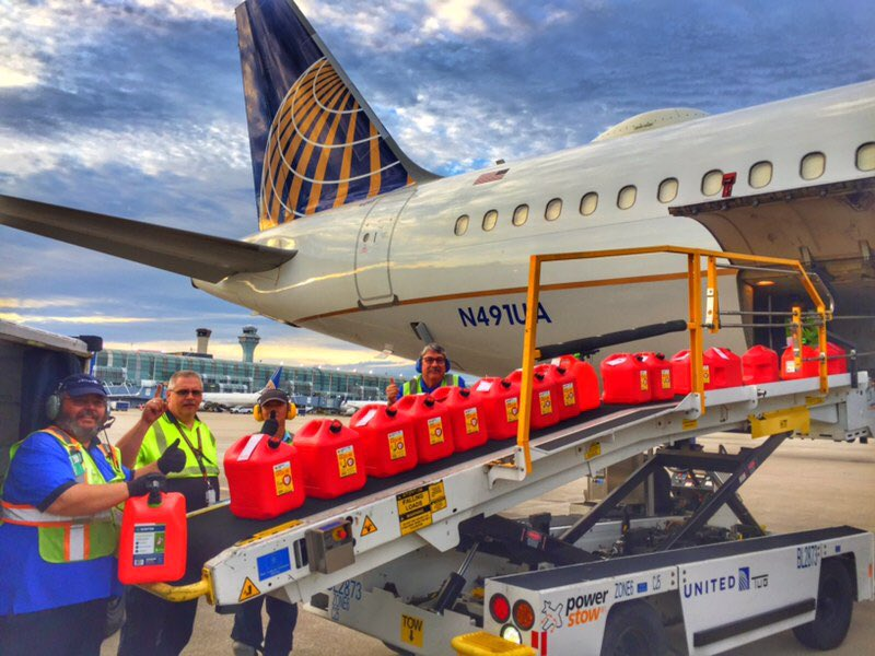 ORD sending supplies to support our Florida coworkers preparing for hurricane Dorian.✈️ .@weareunited