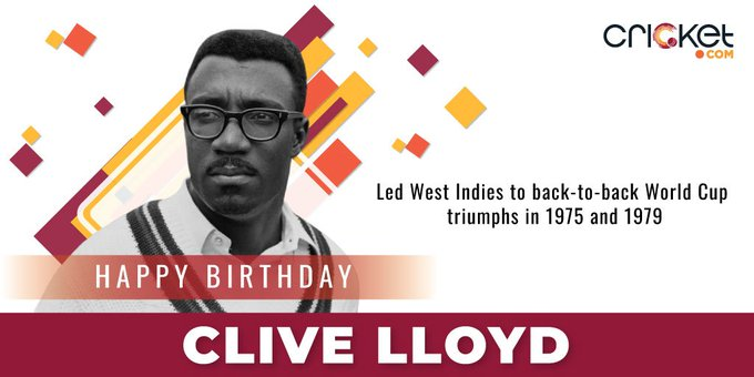 One of the most successful captains of all time. Happy Birthday Clive Lloyd!