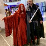 Melisandre found the King of the North to accompany her on the science track today ❤️  #DragonCon  #DragonCon2019 #GoT   Join us at 2:30 for Chow- Science of Food in Hilton room 210/211 & at 7pm for The Year in Science in Hilton Crystal Ballroom! #scicom