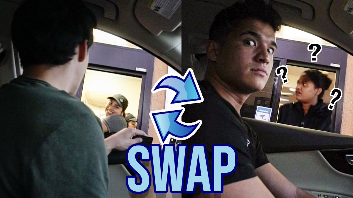 Guess what we just did 🤣 Brother Swap DRIVE THRU Challenge youtu.be/gETht9OtmOQ