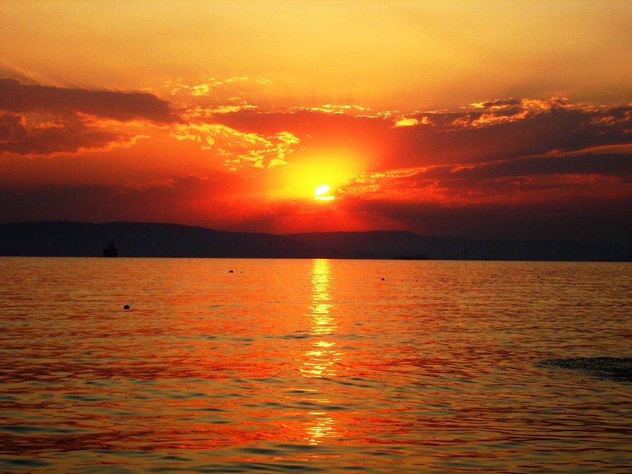 Гифка море и солнце, дальнобой надписями картинки