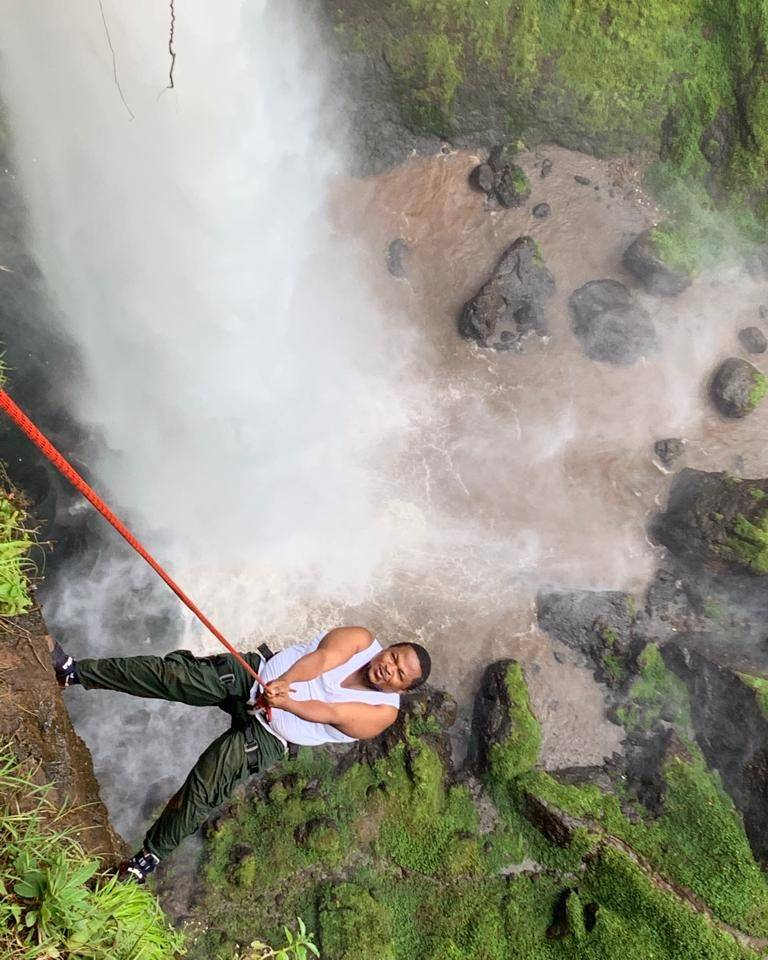 Today I conquered Sipi Falls for the 2nd time. Mehnn. Exhilarating stuff. This is the best time to visit Sipi; the rainy season is on and the water is thunderlingly beautiful! #Abseiling  #ExperienceUganda #1000ReasonstoVisitUganda  #BreathtakingUganda  #TrulyThePearlofAfrica