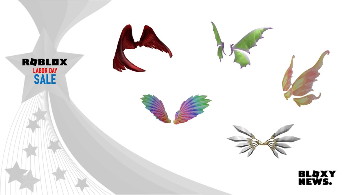 Roblox Rainbow Wings Bloxy News On Twitter Crimson Wings R 500 Https T Co Vruxl4iswe Rainbow Wings R 400 Https T Co Oc2vkj9mvm Faerie Wings R 200 Https T Co Yfw7hvlfoe Golden Fairy Of Autumn R 250 Https T Co Psybesu9kd Cybernetic Wings R 700 Https