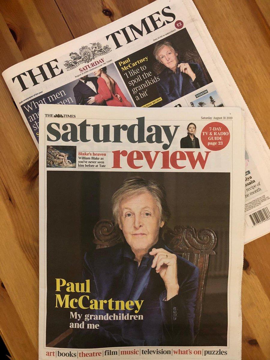 The Beatles Polska: Paul McCartney opowiedział o byciu dziadkiem w sobotnim wydaniu Timesa