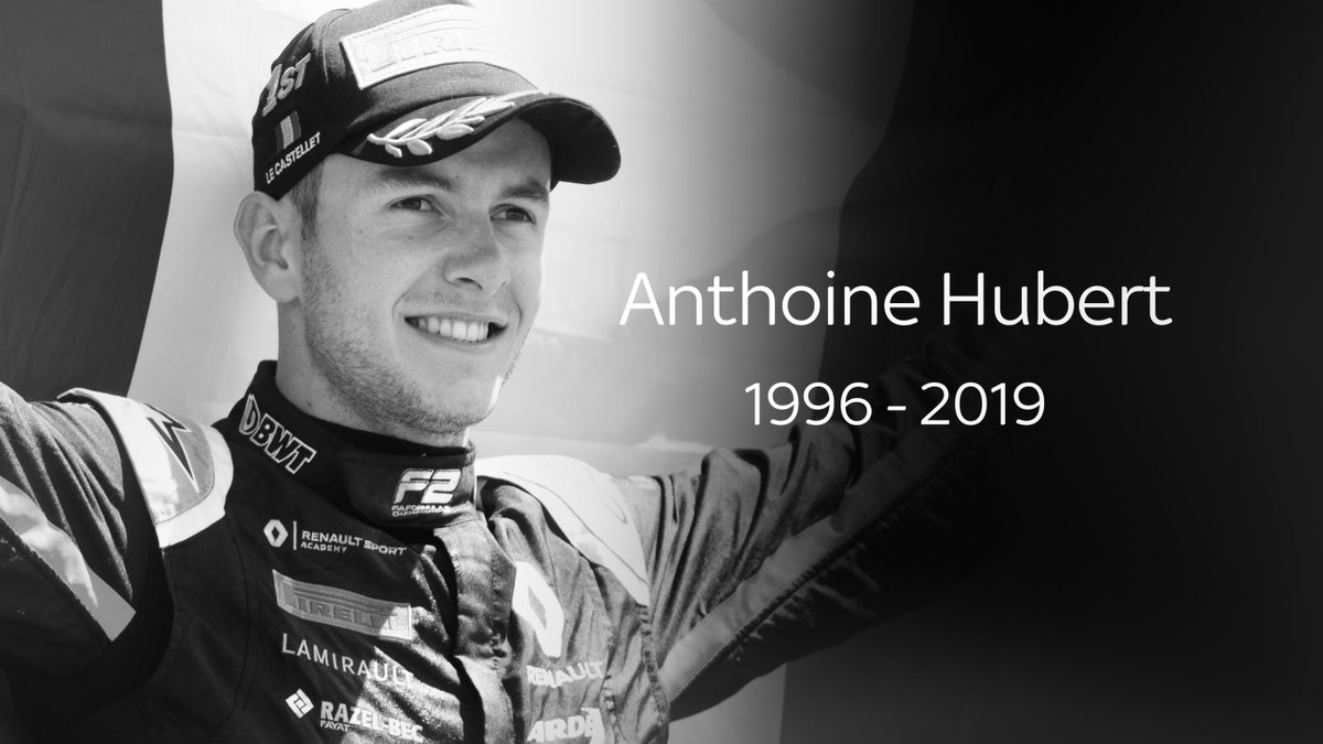 Heartbreaking news from Spa. Following a high-speed crash in F2, Anthoine Hubert has passed away. Rest In Peace, Anthoine. skysports.com/f1/news/12433/…