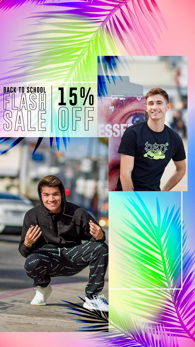 BACK TO SCHOOL MERCH SALE! 15% OFF on all ur favorite Wassabi merch! RT for a chance to win one of EVERYTHING! 🔥 AlexWassabi.com