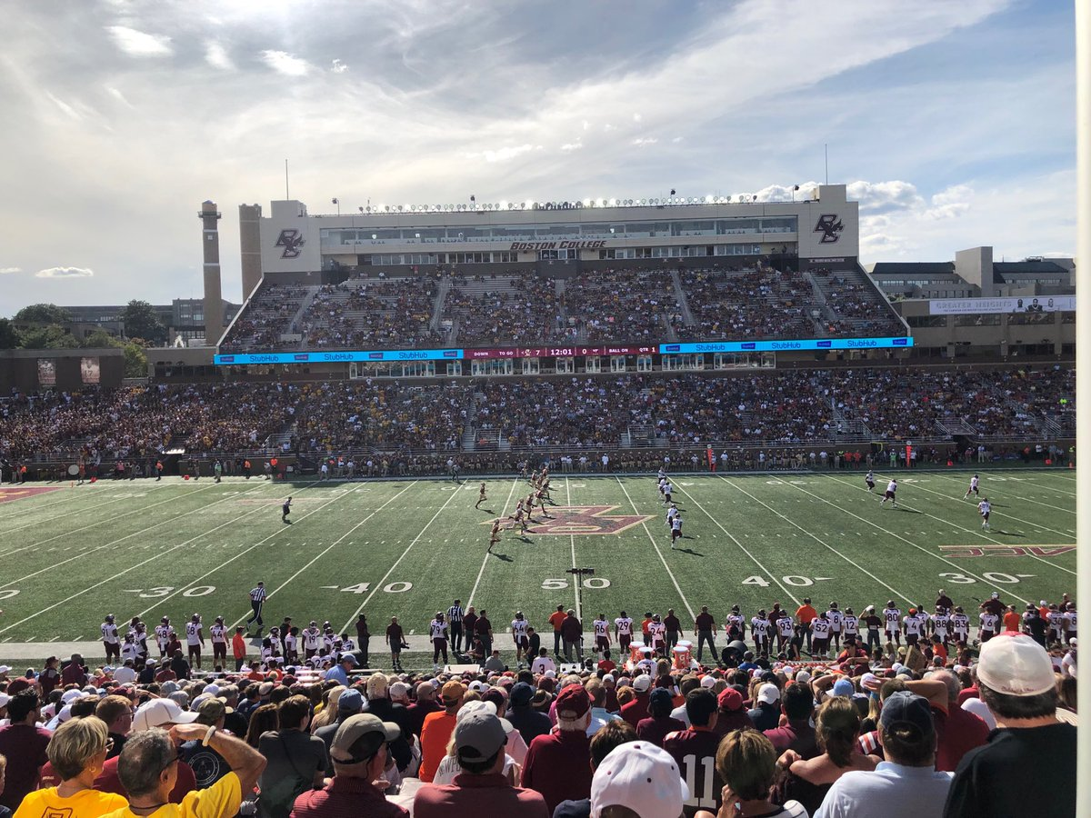 ⁦@BostonCollege⁩ begins its 121st football season at Chestnut Hill. Go Eagles!