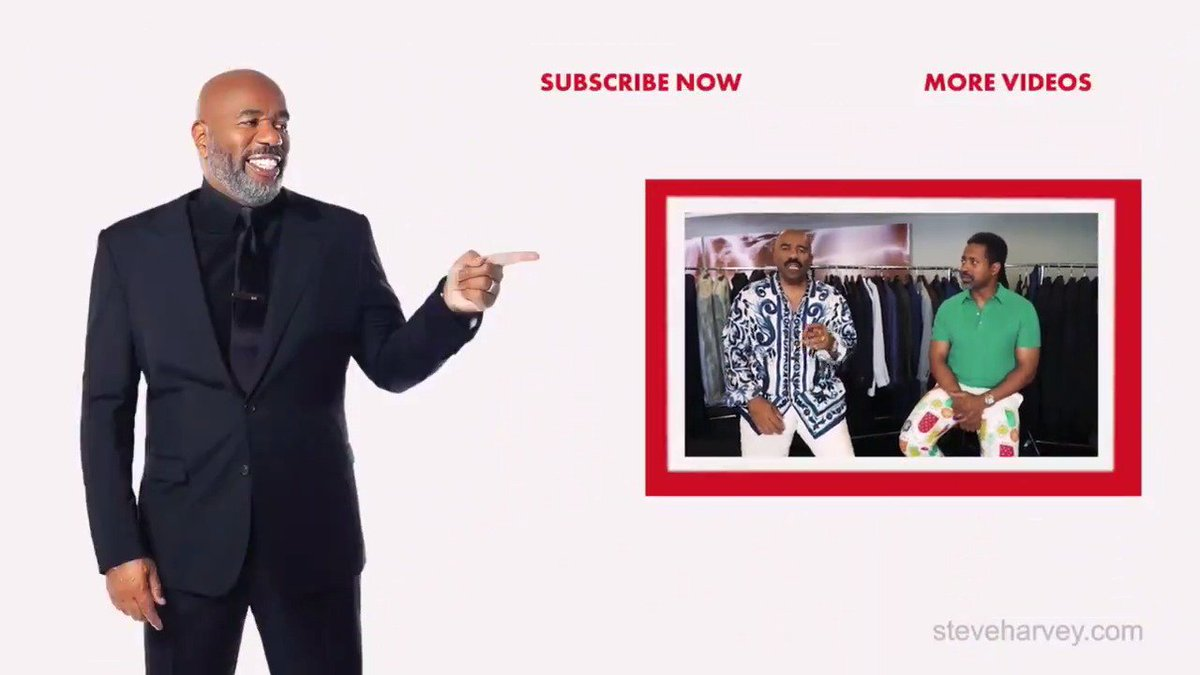 'Styling With Will' is up on my #YouTube channel. Catch up on all the episodes now. While you're there hit the subscribe button youtube.com/steveharvey