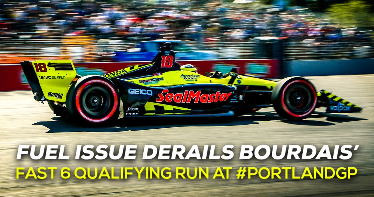 . @BourdaisOnTrack was running the second fastest lap in round 2 of #PortlandGP qualifying when a non-engine related fuel issue brought an end to his qualifying session. #INDYCAR