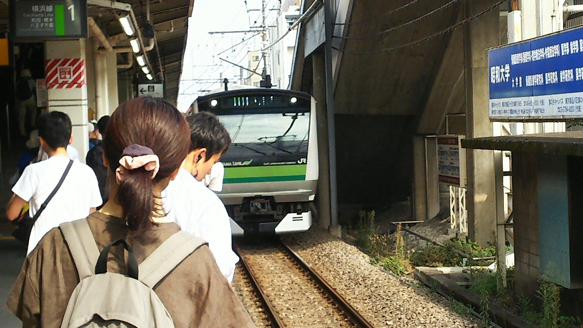 横浜線の長津田駅で人身事故が起きた現場の画像