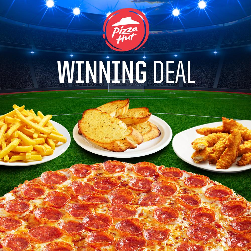 Get in the winning mood for the big match today with our Winning Deal 🙌🏼 Who are you cheering for? 💙 https://t.co/VMUsQdoHiL