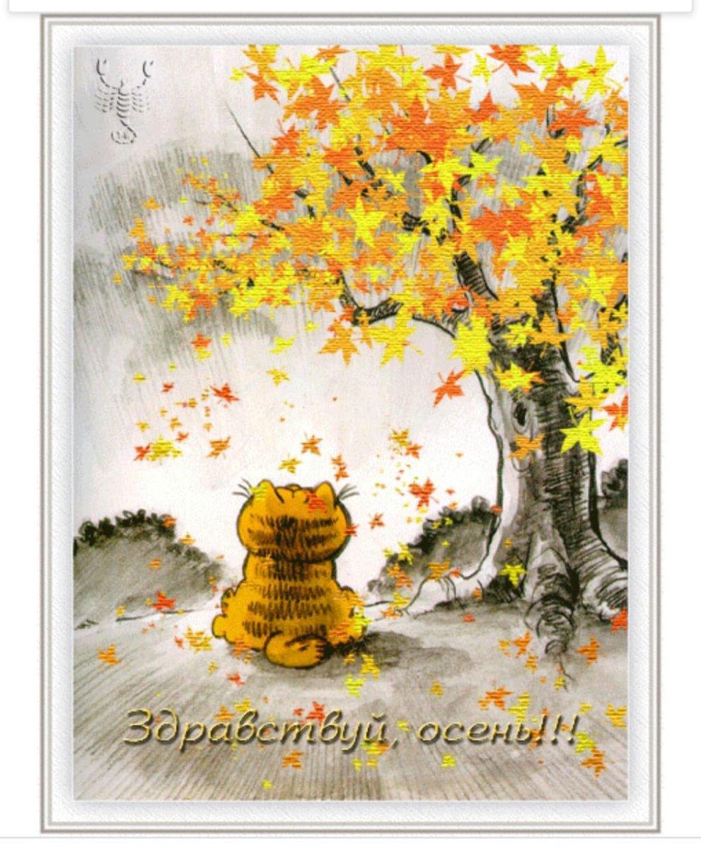 Блестяшки анимашки в картинках осень