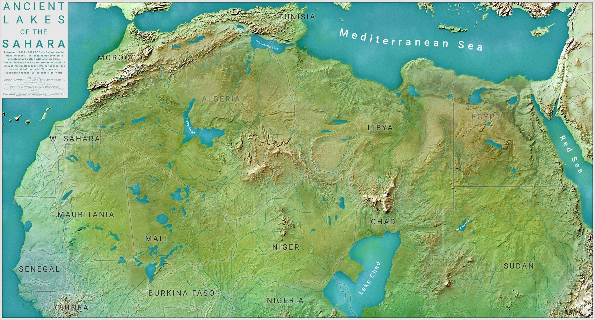 5000 years ago Sahara was a green landscape with lakes and rivers