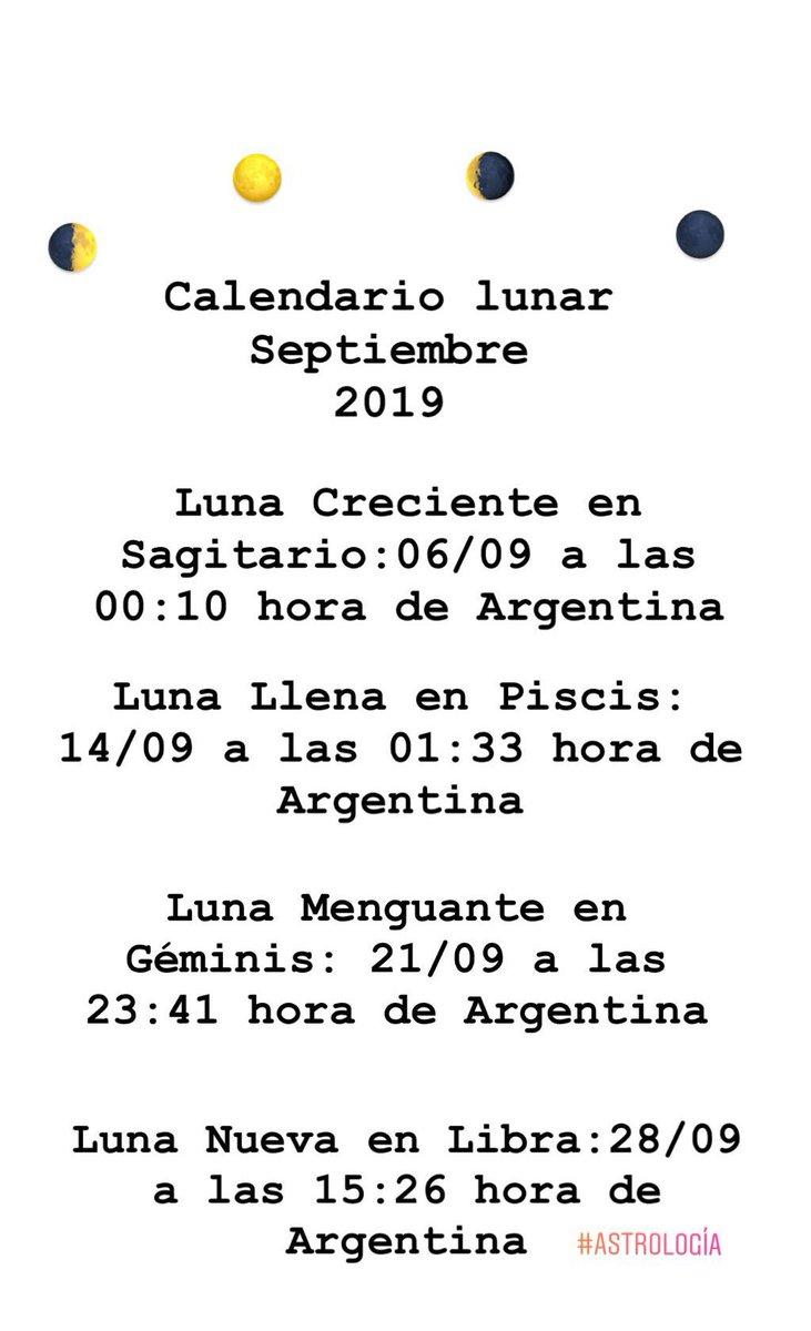 Luna nueva en septiembre 2019