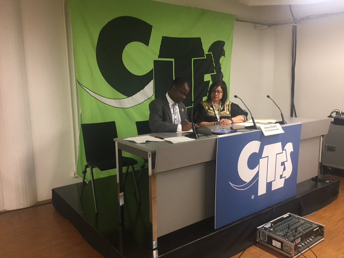 Thanks to EU's support to the MIKE programme we can continue our collaboration for conservation of Niassa National Reserves globally important elephant population-Here Mateus Mutemba #ANAC DG at #CITESCoP18 signing new agreement with CITES Secretariat independent.co.uk/environment/el…