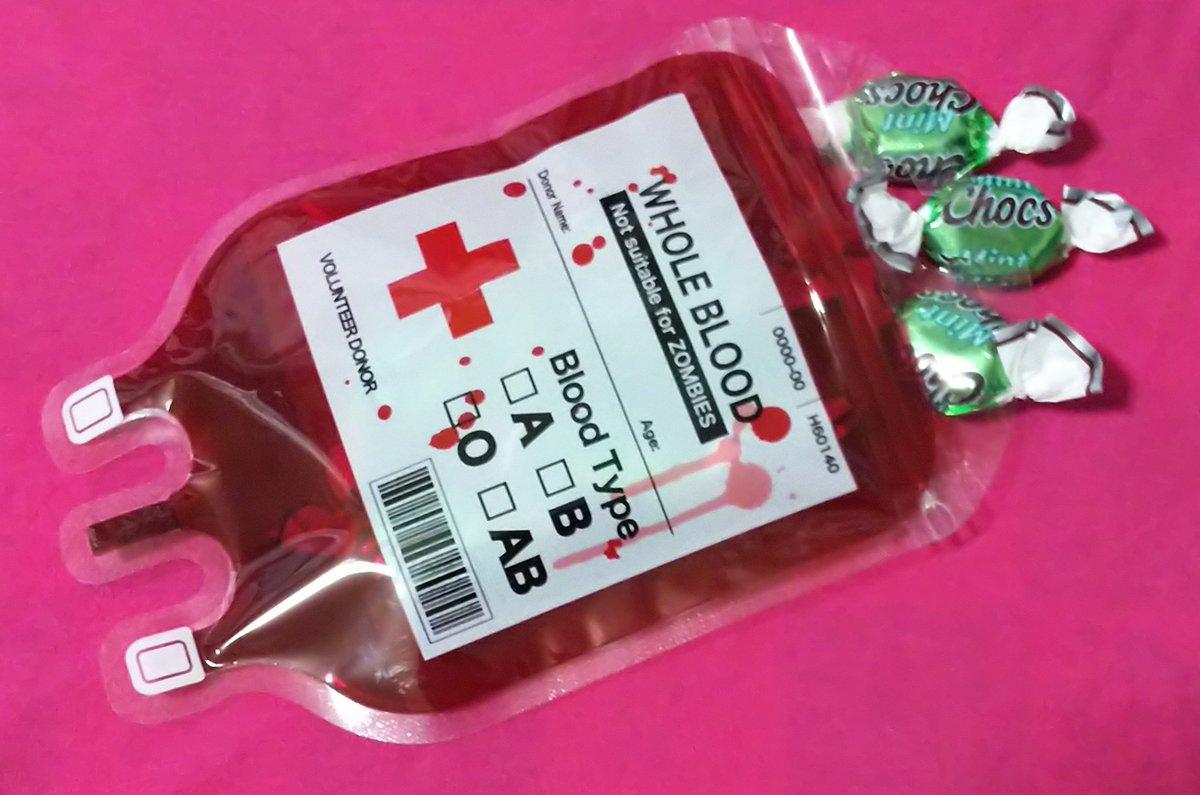 test ツイッターメディア - セリアの血液ジップバッグに 飴ちゃんいれてみた。 #セリア #ハロウィーン https://t.co/MSV382Noqg