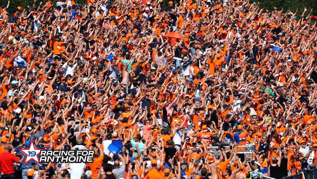 Lap 19.👏🏻🧡  #MaxVerstappen #F1 #BelgianGP #BelgiumGP #RIPAnthoine #Respect #MightyMax #RacingForAnthoine