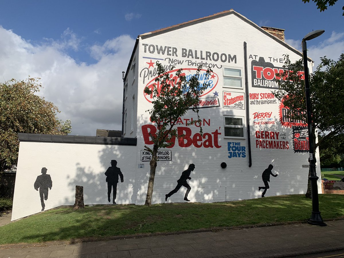 The Beatles Polska: Nowy mural Beatlesów w New Brighton