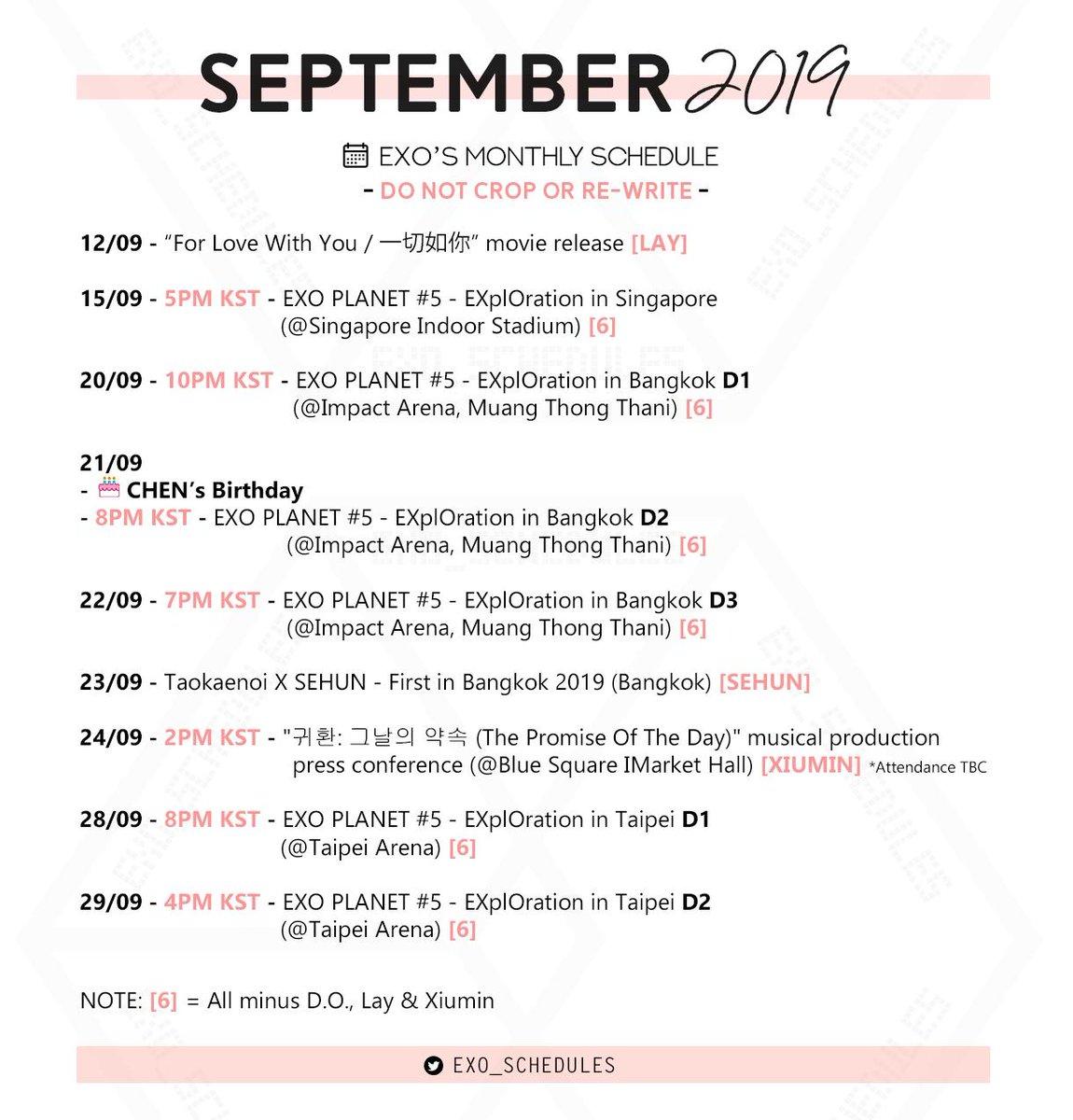 EXO SCHEDULE (@exo_schedules) | Twitter