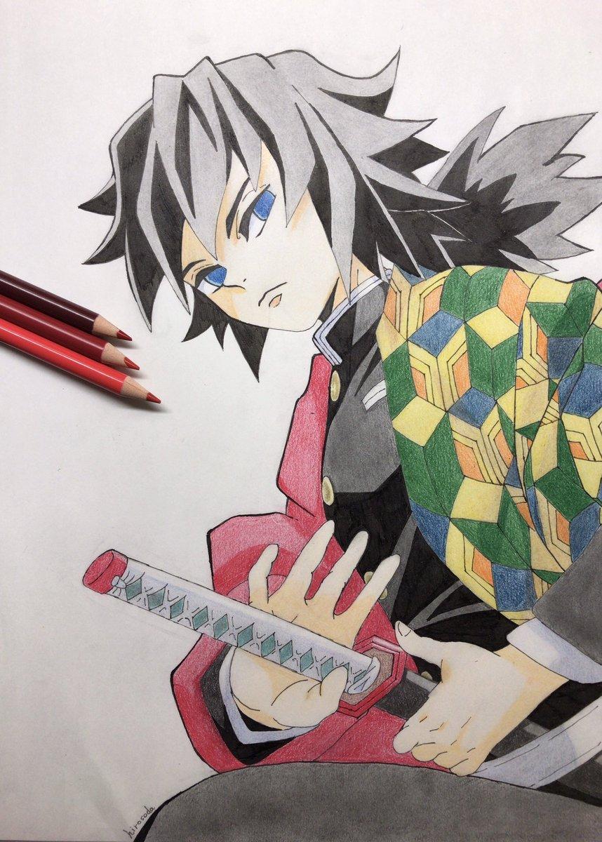 描いてみた】鬼滅の刃 描いてみた 色鉛筆 イラスト好きな人