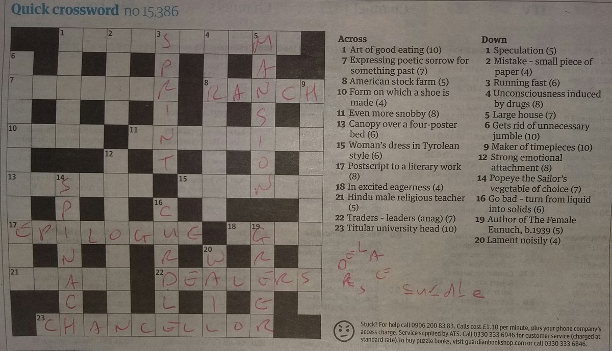 Stewart Killala On Twitter But Wednesday S Crossword Went A Tad