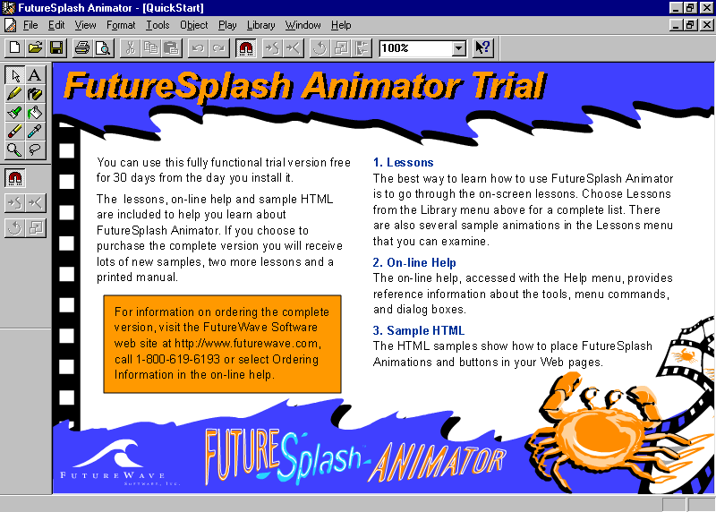 Web Design Museum On Twitter Do You Remember Futuresplash Animator This Multimedia Program Was The First Version Of Popular Macromedia Flash And In November 1996 Macromedia Acquired Futurewave Software Https T Co Oqv6kuxvsm Flash Webdesign