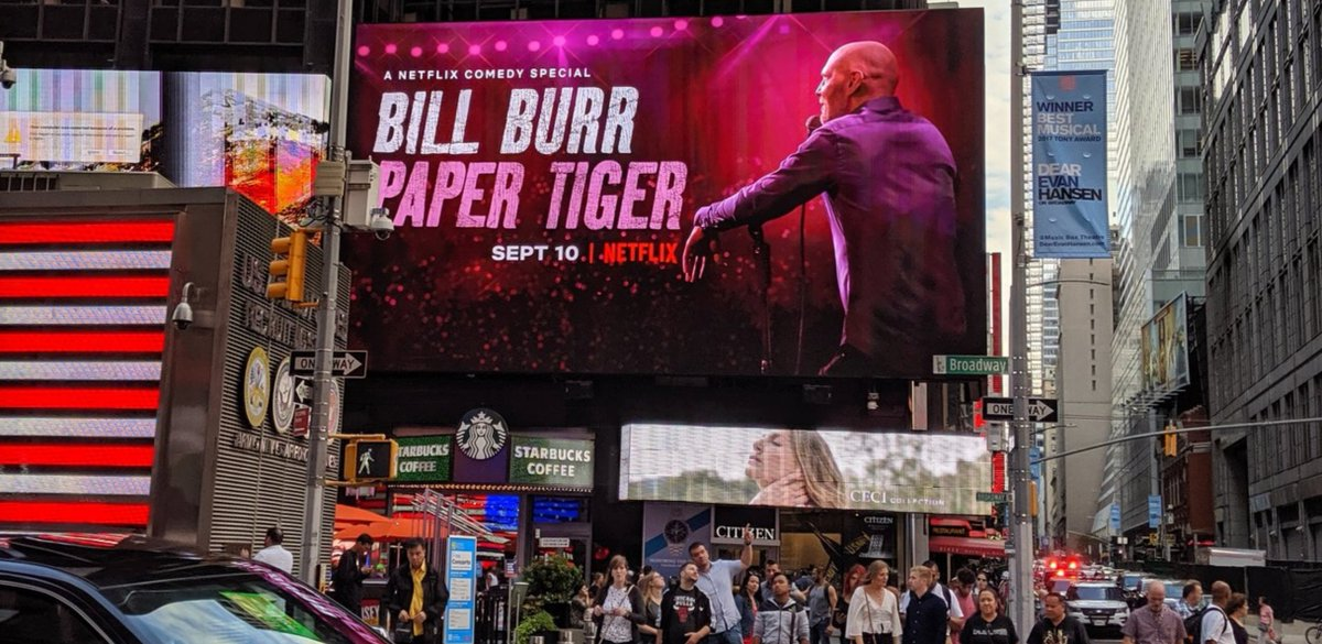 Tuesday. Paper Tiger. Check it out. @NetflixIsAJoke @billburr is the best there is. Honored to be involved.