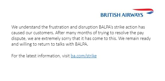 British Airways pilots' strike enters second day