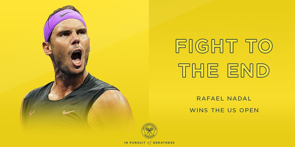 A final we wont soon forget... @RafaelNadal withstands an almighty test from Daniil Medvedev to win his fourth #USOpen and 19th Grand Slam title 🏆