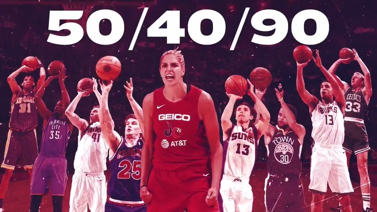 EDD. HISTORY.   THE FIRST WNBA PLAYER TO JOIN THE 50/40/90 CLUB 🐐🔥