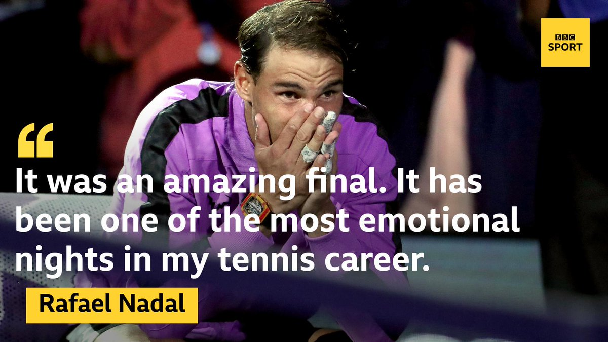 Rafael Nadal is clearly completely overwhelmed. #bbctennis #USOpenFinals