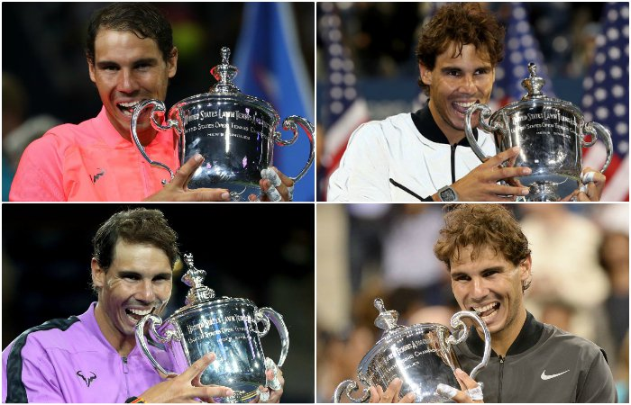 Those #USOpen trophies must taste good. #bbctennis #USOpenFinals #VamosRafa
