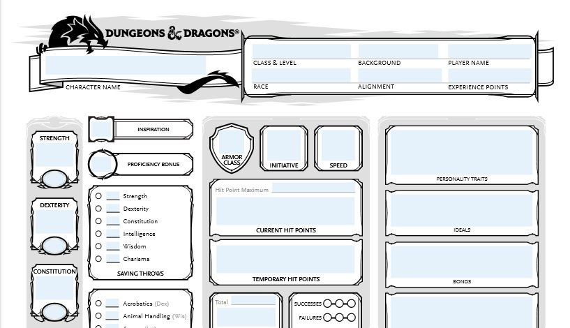graphic about Dungeons and Dragons Printable Character Sheet identified as Andrew Hand (@Boccobsblog) Twitter