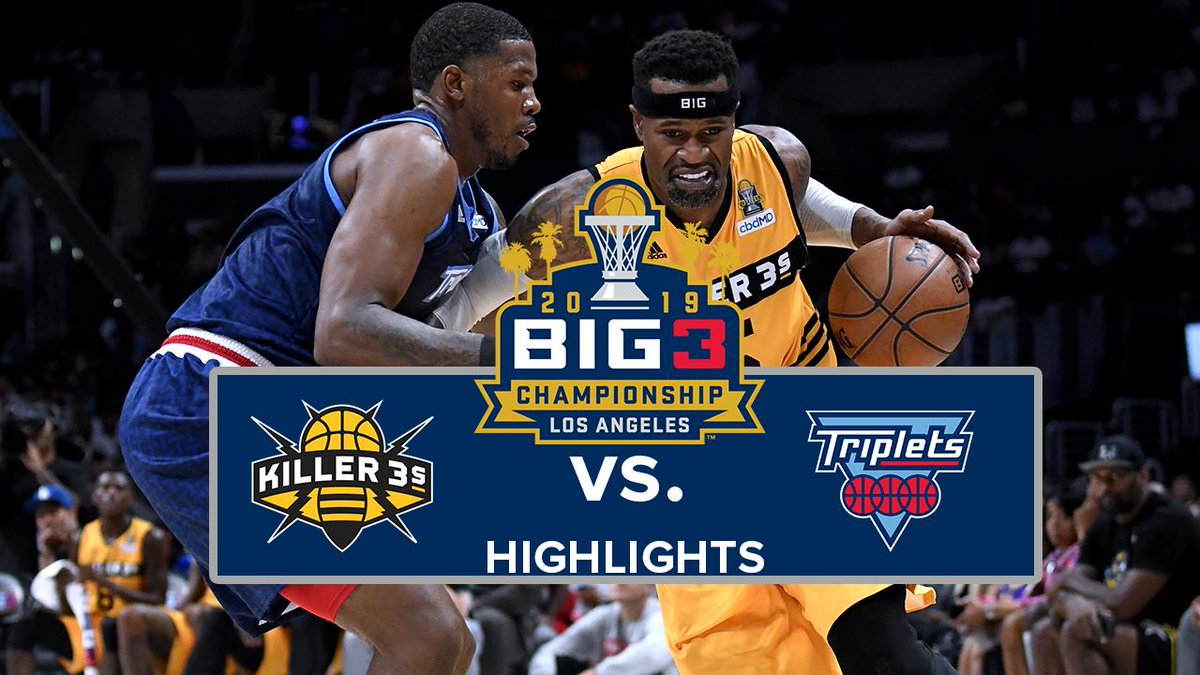 💥FLASHBACK💥  Highlights from the 2019 championship game, where the Triplets beat the Killer 3s to take home the hardware!   Will they be the first team in history to repeat? 🎥🔥🏆   #BIG32020