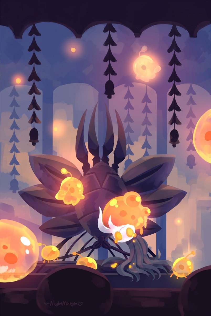 Here's my piece for the Hollow Knight fanzine @SoulZine  !  It was a blast to work on :)  #HollowKnight