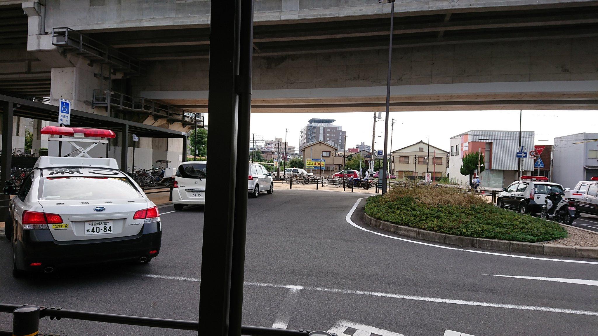 新瀬戸駅で女子中学生が飛び込み自殺を図った人身事故現場の画像