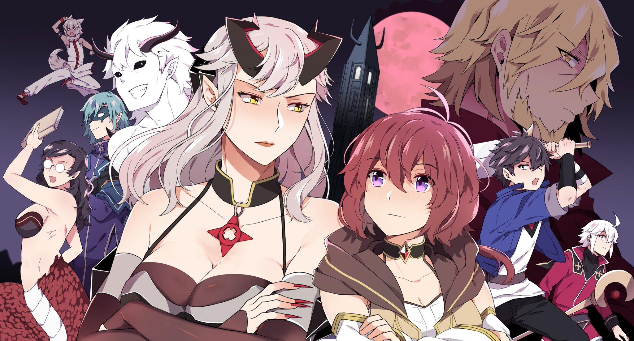 "Kuru (working again) on Twitter: ""Season 2 full banner #mageanddemonqueen  #webtoon… """