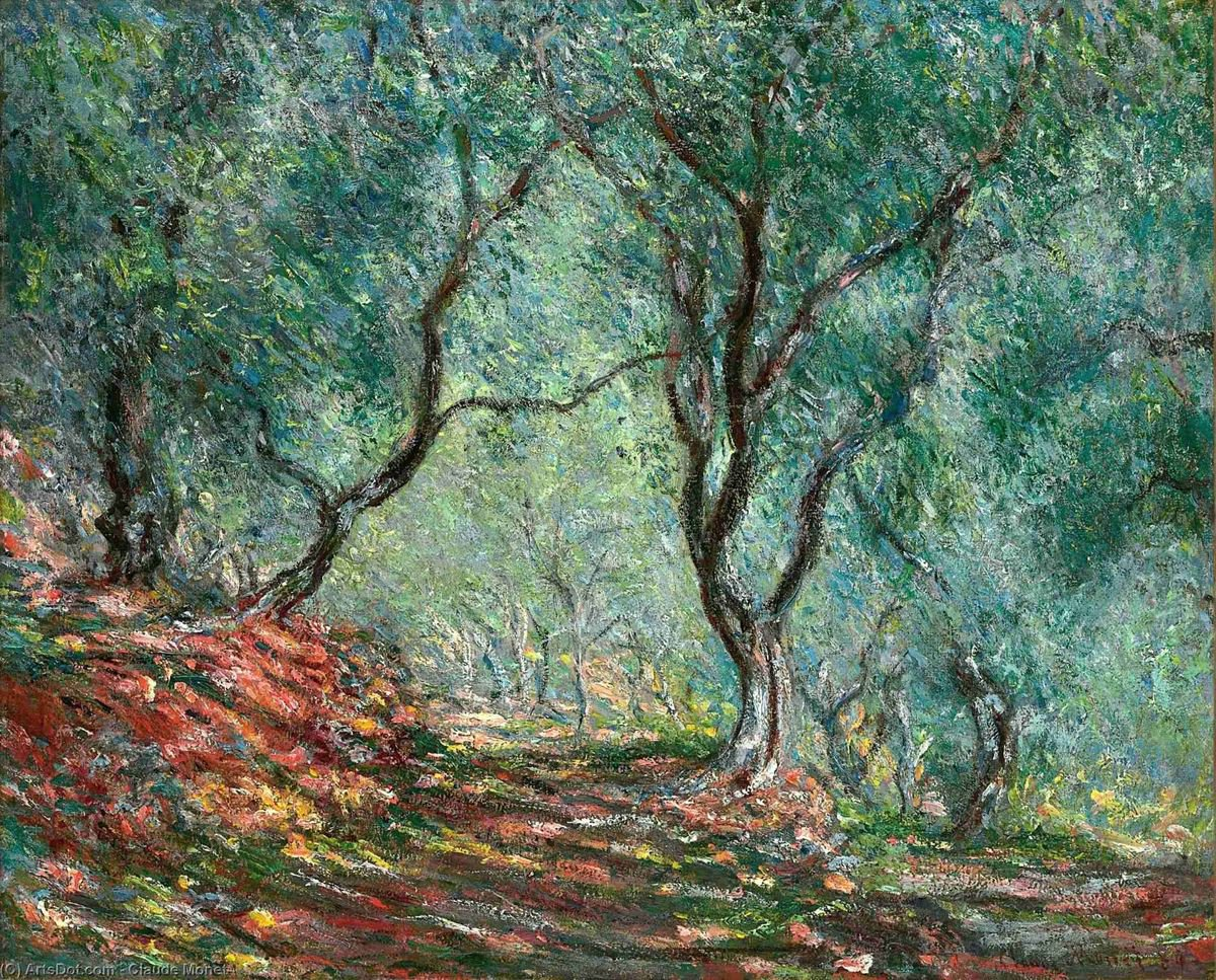 "Art🎨♡ ""Olive tree Wood In the Moreno garden""#Monet"