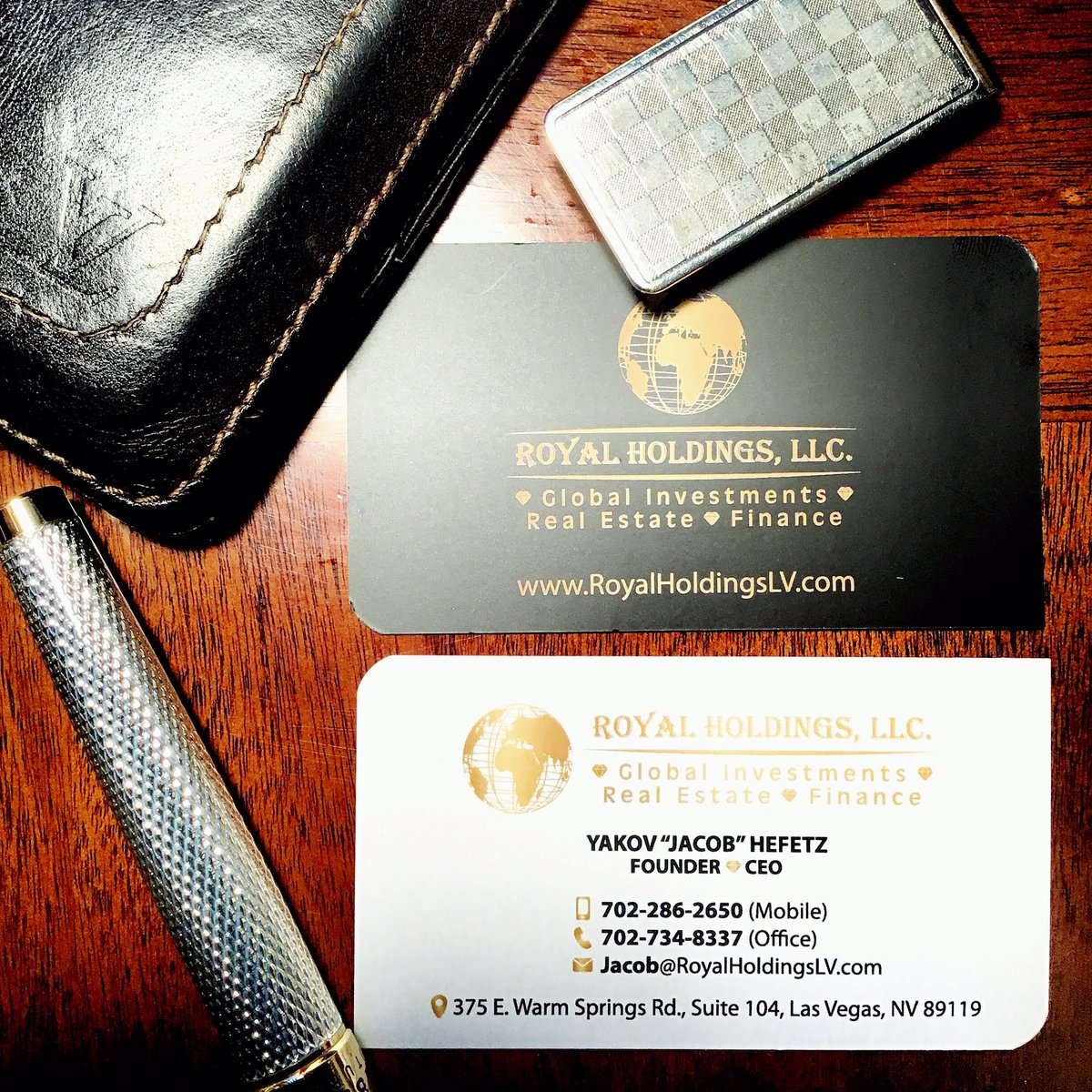 Royal Holdings , LLC . - Global Investment ⚜️ Real Estate ⚜️ Finance.  https://t.co/Xh1DgBdBd5  #yakovhefetz #jacobhefetz #jackiehefetz #royalholdings #globalinvestment #realestate #finance #businesscards #royalholdingslv #lasvegas https://t.co/4NTiwu82ia