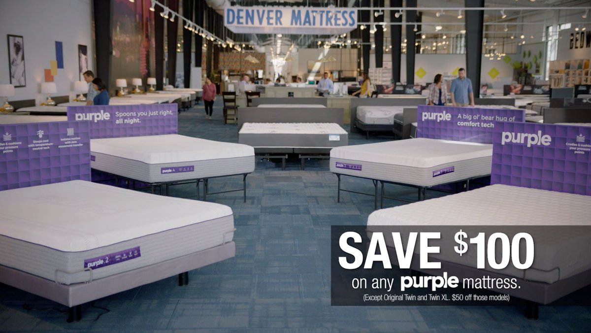 Denver Mattress On Twitter 𝗣𝗜𝗖𝗞 𝗬𝗢𝗨𝗥 𝗣𝗨𝗥𝗣𝗟𝗘 𝗗𝗘𝗔𝗟 Save 100 On Any Purple Mattress Your Choice Free Purple Accessory Or Free Purple Mattress Protector With Purple Mattress Purchase Shop 4