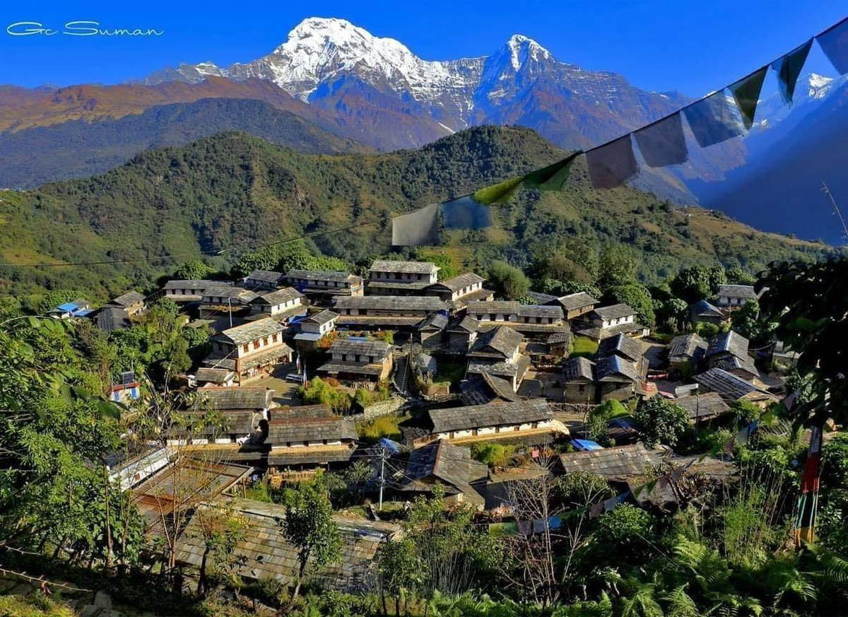 "Ghandruk Village of Nepal is listed on CNN ""Asia's 13 best places"".#VisitNepal2020 #Nepal #OnceIsNotEnough #LifeTimeExperience #WelcomeNepal #NepalNOW #myGHT #Ghandruk"