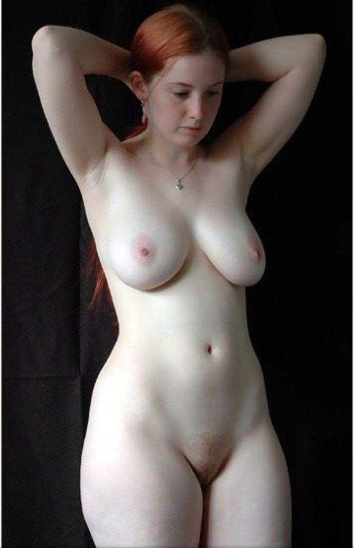 Pale white skin nude women gif