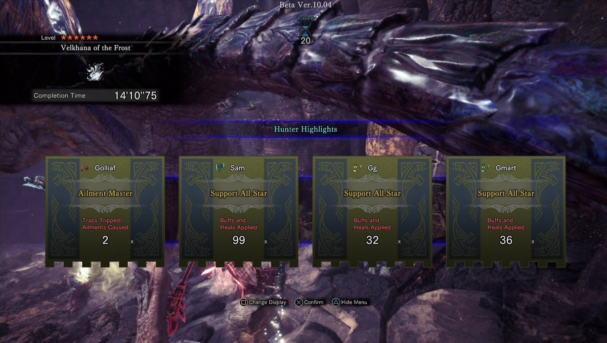 with only one hour left in the beta, i finally killed it