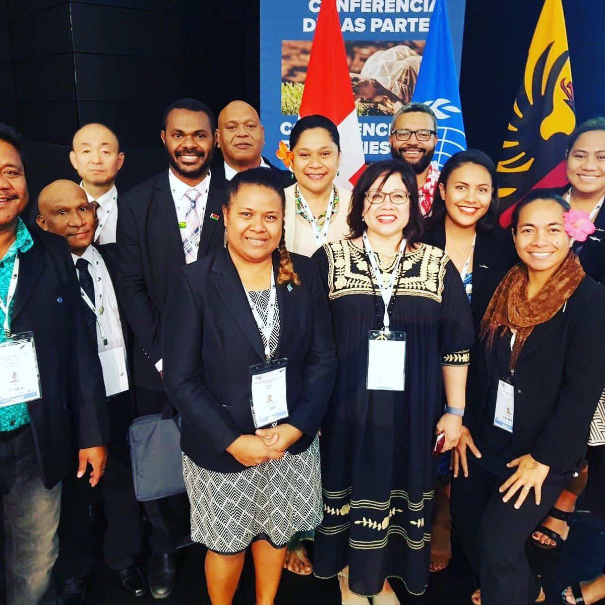Lovely to meet the Pacific Island delegates at #citescop18 in Geneva who are committed to implement @CITES in the #Oceania region! All good fortune in following up with CoP18 decisions and let us know if you have any capacity-building or compliance assistance needs @SprepChannel